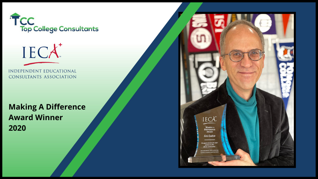 Dr. Eric Endlich was awarded the IECA Making a Difference Award