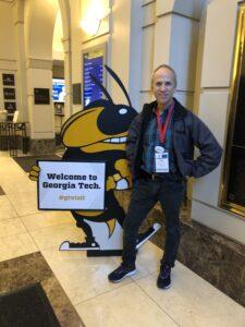 Dr. Eric Endlich on a college tour at Georgia Tech