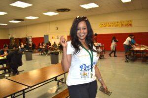 Lisa Andrews at school event